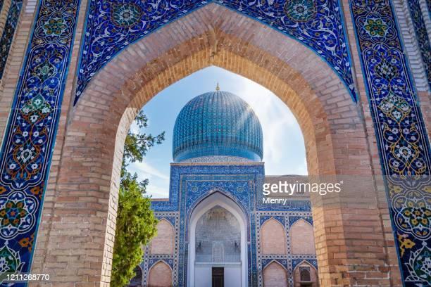 gur emir mausoleum samarkand oezbekistan amir timur graf samarqand - oezbekistan stockfoto's en -beelden