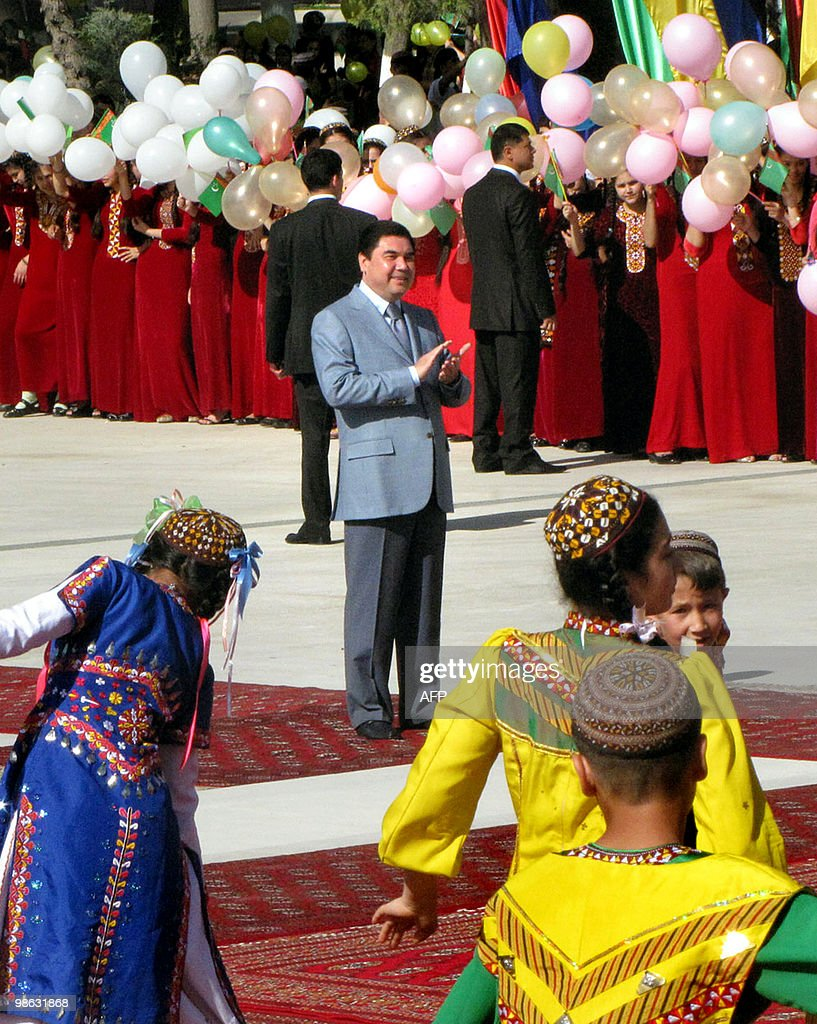 Gurbanguly Berdymukhamedov, President of Turkmenistan attends a ceremony in the circus in Ashgabat on April 23, 2010. Almost a decade after Turkmenistan's leader banned circuses as 'alien' culture, the circus reopened in Ashgabat. The Central Asian country's authoritarian and eccentric leader, Saparmurat Niyazov, known as Turkmenbashi, closed the circus in 2001 after declaring it 'alien culture' and 'contrary to the Turkmen mentality.'