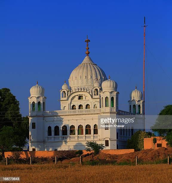gurdwara darbar sahib, kartar pur, pakistan - kartarpur stock photos and pictures