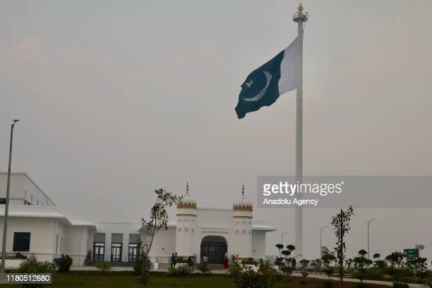 Gurdwara Darbar Sahib Kartarpur shrine where the Sikhism founder Guru Nanak Dev died is seen in Kartarpur town of Punjab province Pakistan on...