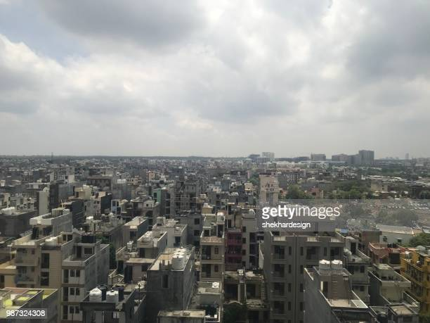 gurgaon cityscape - haryana stock pictures, royalty-free photos & images