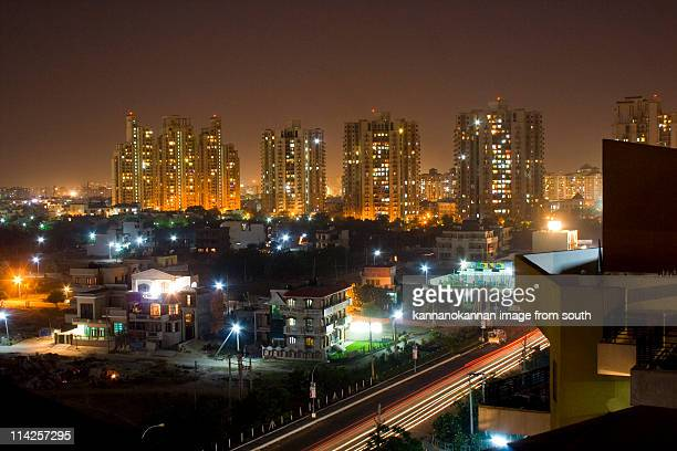 Gurgaon skyline at night