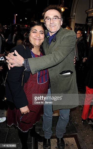 Gurinder Chadha and Danny Boyle attend an after party for 'A Memory A Monologue A Rant And A Prayer' a onenight only performance produced by Lauren...