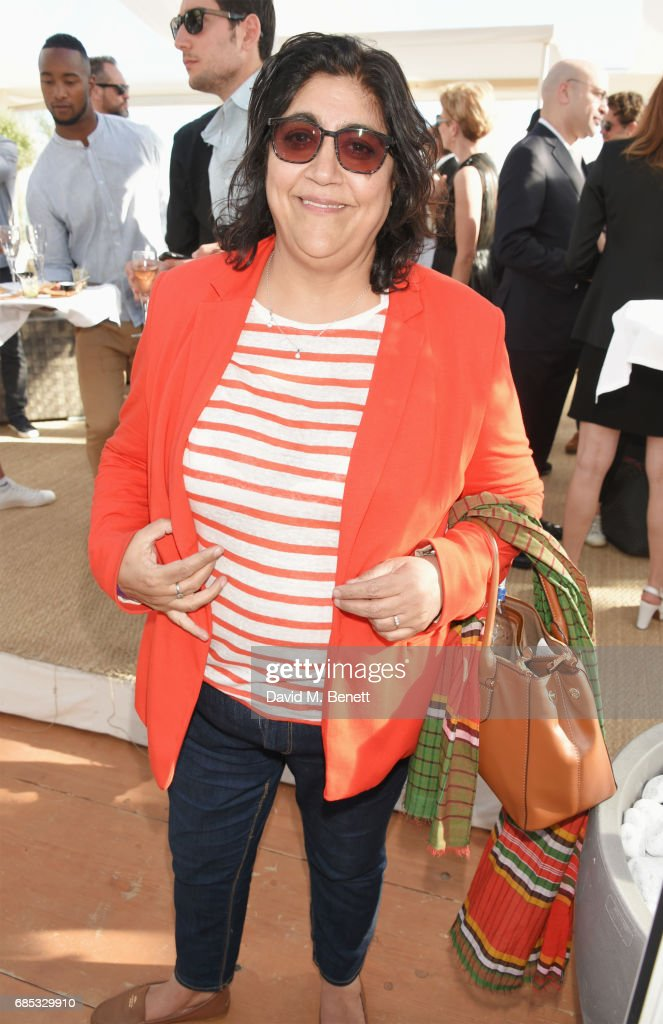 Gurinder Chadha attends Focus Features' 15th Anniversary party at the Cannes Film Festival at Baoli Beach on May 19, 2017 in Cannes, France.
