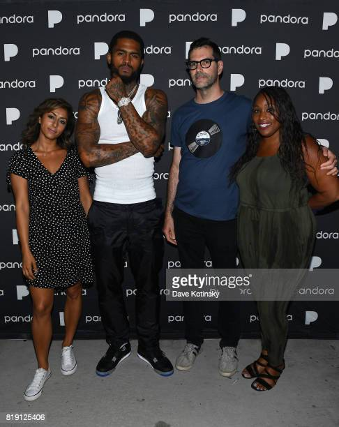 Gurj Bassi Dave East Mike Fink and Nicole Johnson attend Pandora Sounds Like You NYC featuring Nas Young MA Dave East and Biz Markie DJ Set at...