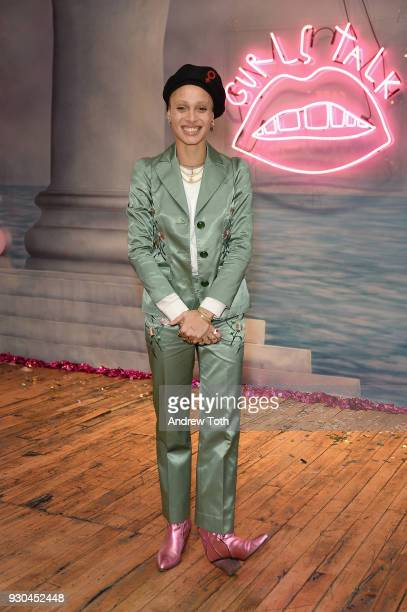 Gurls Talk Cofounder and modelactivist Adwoa Aboah attends the Gurls Talk Festival in collaboration with Coach and Teen Vogue at Industry City on...