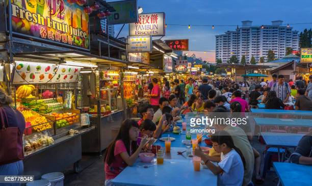 gurney drive in penang - george town penang stock photos and pictures