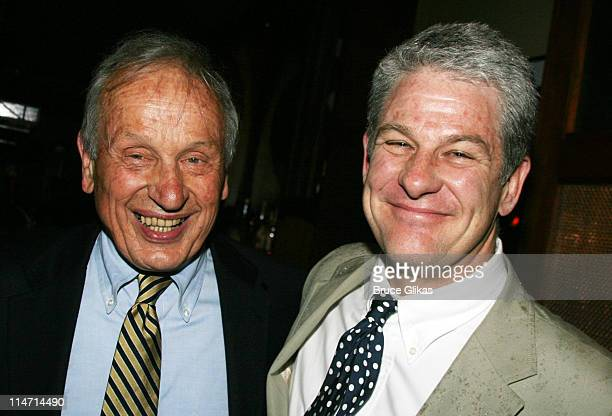 AR Gurney playwright and Jim Simpson director during Opening Night Party for Crazy Mary OffBroadway at West Bank Cafe in New York New York United...