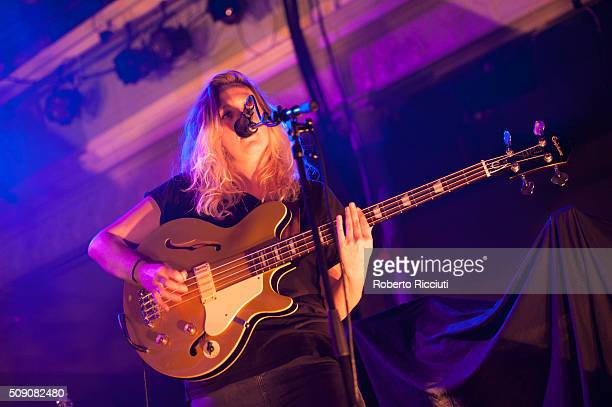 Guro Gikling of All We Are performs on stage at Queen's Hall on February 8 2016 in Edinburgh Scotland