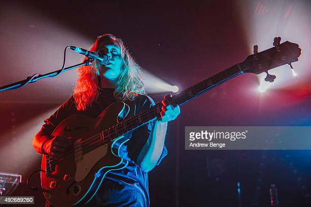 Guro Gikling of All We Are performs on stage at Scala on October 14 2015 in London England