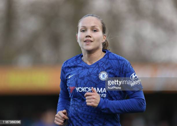 Guro Reiten of Chelsea Ladies during the Barclays FA Women's Super League match between Chelsea and Manchester City at the Cherry Red Records Stadium...