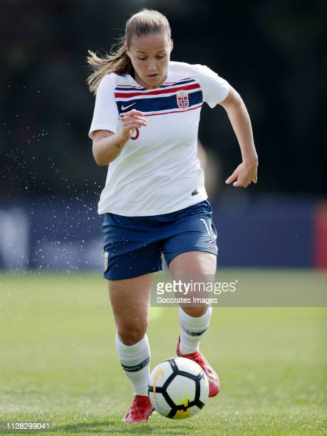 Guro Reiten of Norway Women during the Algarve Cup Women match between China PR v Norway at the Estadio Municipal de Albufeira on March 1, 2019 in...
