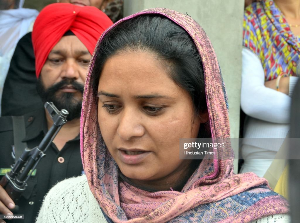 Gurpinder Kaur sister of Manjinder Singh one of the workers killed in Iraq`s Mosul Bhoewal Village on March 21 2018 near Amritsar India The 39...