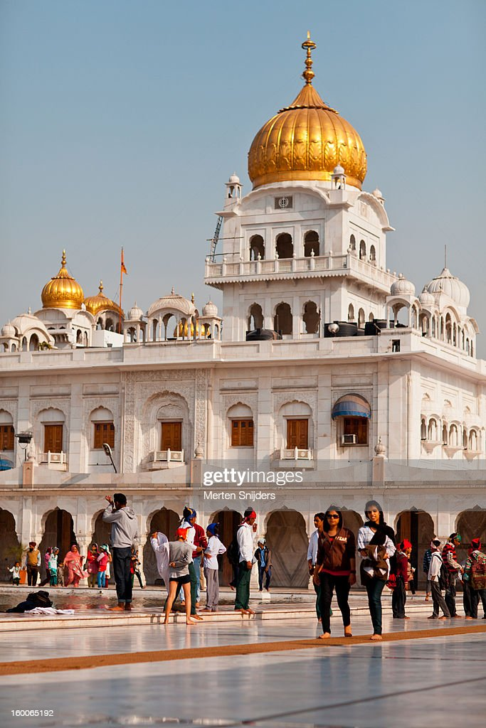 Gurudwara Bangla Sahib Temple : Stockfoto