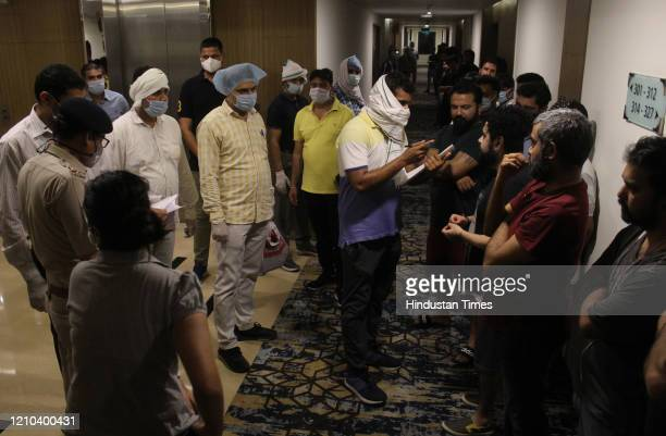 Gurugram police raided a luxury hotel and arrested employees of a BPO for allegedly running a call centre from the hotels rooms during lockdown at...