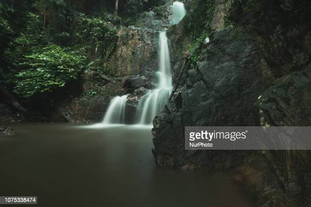 Guruh Gemurai waterfall in Kuansing Regency Riau Indonesia