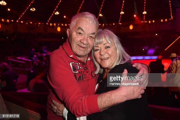 Gus Backus and his wife Heidelore during Circus Krone celebrates premiere of 'Hommage' at Circus Krone on February 1 2018 in Munich Germany