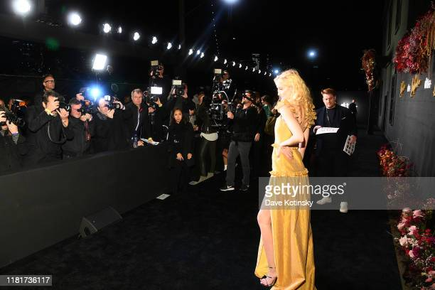 Gus Birney attends Apple's Global Premiere for Dickinson on October 17 2019 in Brooklyn New York Dickinson debuts on Apple TV the first alloriginal...