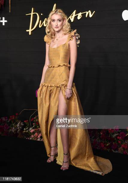 Gus Birney attends Apple's Global Premiere of Dickinson at ST Ann's Warehouse on October 17 2019 in Brooklyn New York