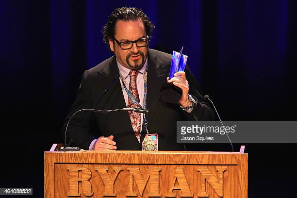 Gus Brandt accepts the Road Warrior of the Year Award during the 26th Annual PollStar Awards at Ryman Auditorium on February 21 2015 in Nashville...