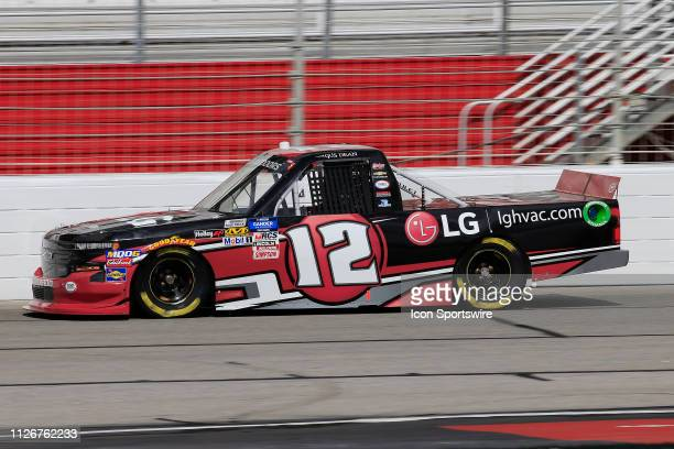 Gus Dean Young's Motorsports Chevrolet Silverado LG Air Conditioning Technologies during practice for the Ultimate Tailgating 200 NASCAR Gander...