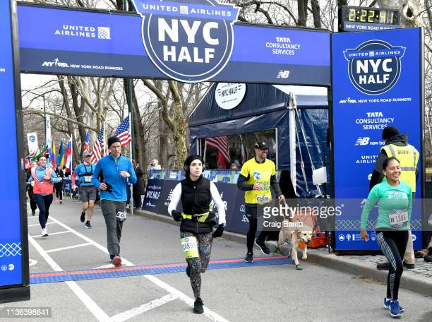 Gus joins Guiding Eyes for the Blind President and CEO Thomas Panek as he runs the first ever 2019 United Airlines NYC Half Led Completely by Guide...