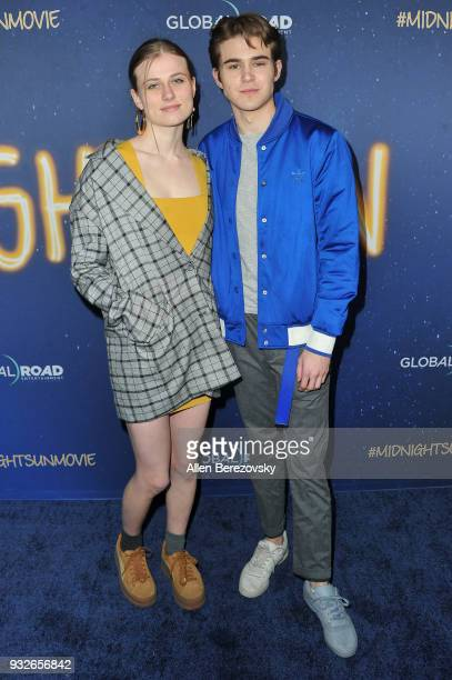 Gus Kamp and a guest attend the Global Road Entertainment's World Premiere of Midnight Sun at ArcLight Hollywood on March 15 2018 in Hollywood...