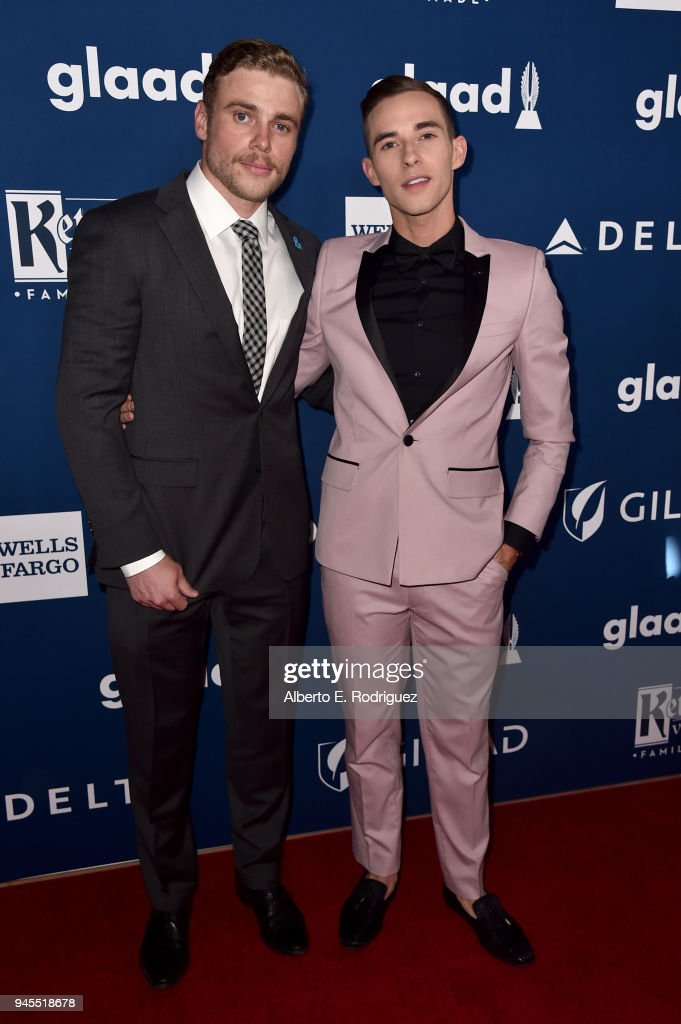 Gus Kenworthy (L) and Adam Rippon attend the 29th Annual GLAAD Media Awards at The Beverly Hilton Hotel on April 12, 2018 in Beverly Hills, California.