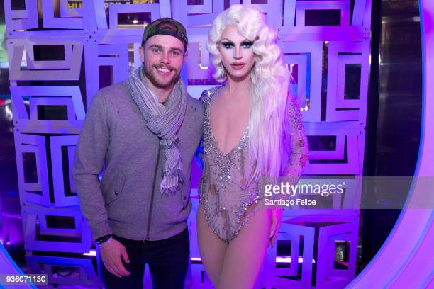 Gus Kenworthy and Aquaria attend at TRL Studios on March 21 2018 in New York City