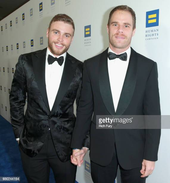 Gus Kenworthy and Matthew Wilkas attend The Human Rights Campaign 2018 Los Angeles Gala Dinner at JW Marriott Los Angeles at LA LIVE on March 10 2018...