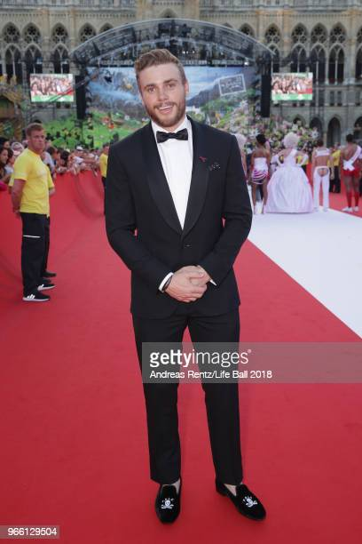 Gus Kenworthy arrives for the Life Ball 2018 at City Hall on June 2 2018 in Vienna Austria The Life Ball an annual charity event raising funds for...