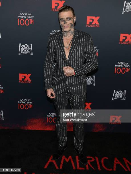 """Gus Kenworthy attends FX's """"American Horror Story"""" 100th Episode Celebration at Hollywood Forever on October 26, 2019 in Hollywood, California."""