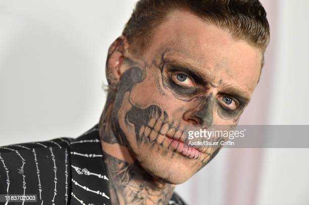 Gus Kenworthy attends FX's American Horror Story 100th Episode Celebration at Hollywood Forever on October 26 2019 in Hollywood California