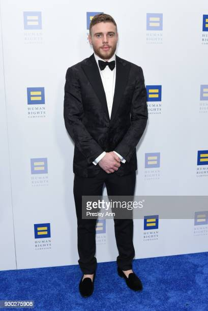 Gus Kenworthy attends Human Rights Campaign's 2018 Los Angeles Gala Dinner Arrivals at JW Marriott Los Angeles at LA LIVE on March 10 2018 in Los...