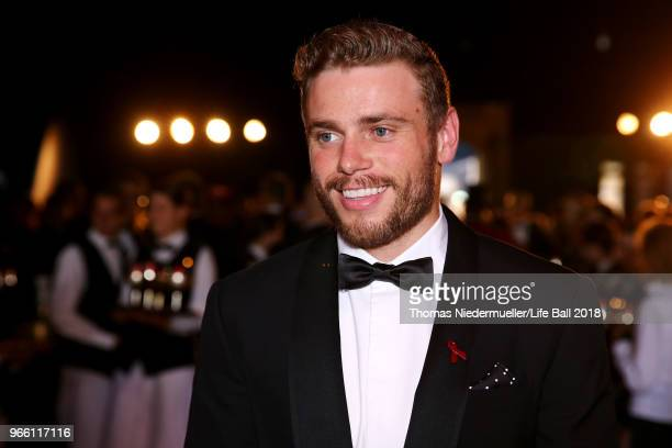 Gus Kenworthy attends the LIFE Solidarity Gala prior to the Life Ball at City Hall on June 2 2018 in Vienna Austria The Life Ball an annual charity...
