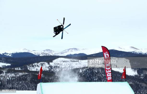 Gus Kenworthy competes in the men's ski Slopestyle Final during Day 4 of the Dew Tour on December 16 2017 in Breckenridge Colorado
