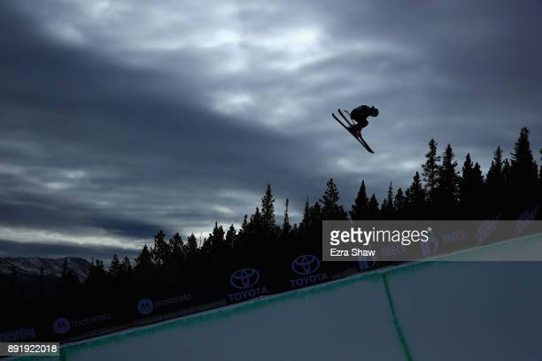 Gus Kenworthy competes in the Superpipe qualification during Day 1 of the Dew Tour on December 13 2017 in Breckenridge Colorado