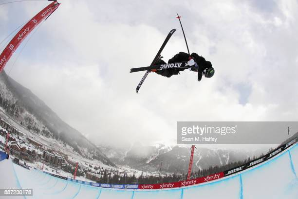 Gus Kenworthy of the United States competes in a qualifying round of the FIS Freeski World Cup 2018 Men's Ski Halfpipe during the Toyota US Grand...
