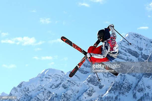 Gus Kenworthy of the United States competes in the Freestyle Skiing Men's Ski Slopestyle Qualification during day six of the Sochi 2014 Winter...