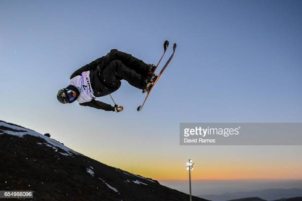 Gus Kenworthy of the United States in action during a training session ahead of the Men's Freestyle Ski Halfpipe final on day eleven of the FIS...
