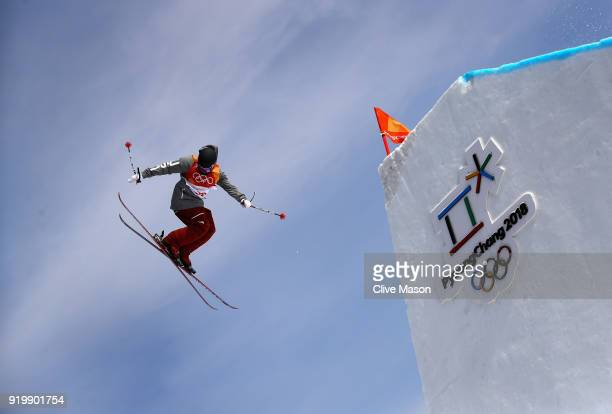 Gus Kenworthy of the United States in action during the Freestyle Skiing Men's slopestyle Aerial final on day nine of the PyeongChang 2018 Winter...