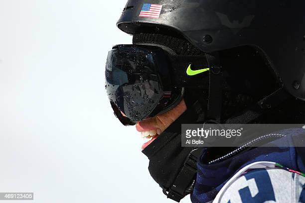 Gus Kenworthy of the United States looks on in the Freestyle Skiing Men's Ski Slopestyle Finals during day six of the Sochi 2014 Winter Olympics at...
