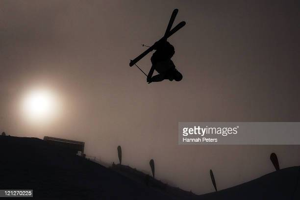 Gus Kenworthy of the United States of America competes in the Freeski Half Pipe Final during day five of the Winter Games NZ at Cardrona Alpine...