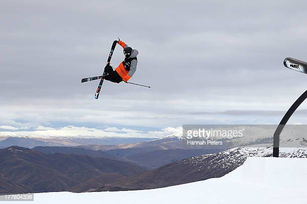 Gus Kenworthy of the USA competes in the FIS Freestyle Ski Slopestyle World Cup Finals during day 11 of the Winter Games NZ at Cardrona Alpine Resort...