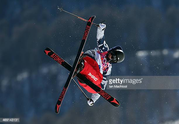 Gus Kenworthy of USA competes in the Freestyle Skiing Men's Ski Slopestyle Final during day six of the Sochi 2014 Winter Olympics at Rosa Khutor...