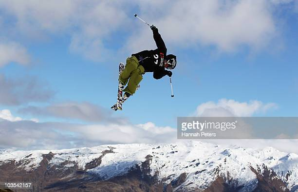 Gus Kenworthy of USA competes in the Men's Freestyle Slopestyle Final during the 2010 Junior World Snowboard Championships at Snow Park on August 23...