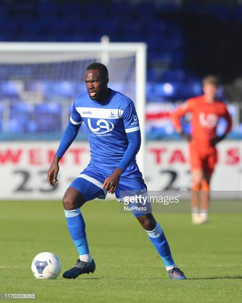 Gus Mafuta of Hartlepool United during the Vanarama National League match between Hartlepool United and Dover Athletic at Victoria Park Hartlepool on...