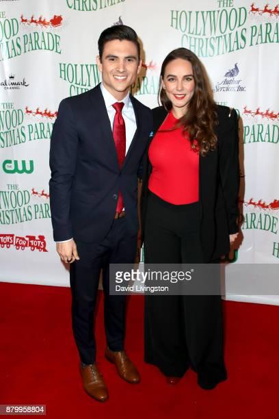 Gus Sanchez and Paulina Gamiz at 86th Annual Hollywood Christmas Parade on November 26 2017 in Hollywood California