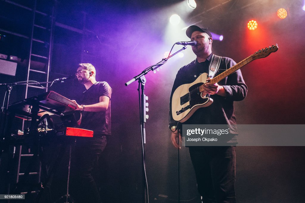 Gus Unger-Hamilton and Joe Newman of alt-J perform at The Garage on February 20, 2018 in London, England.