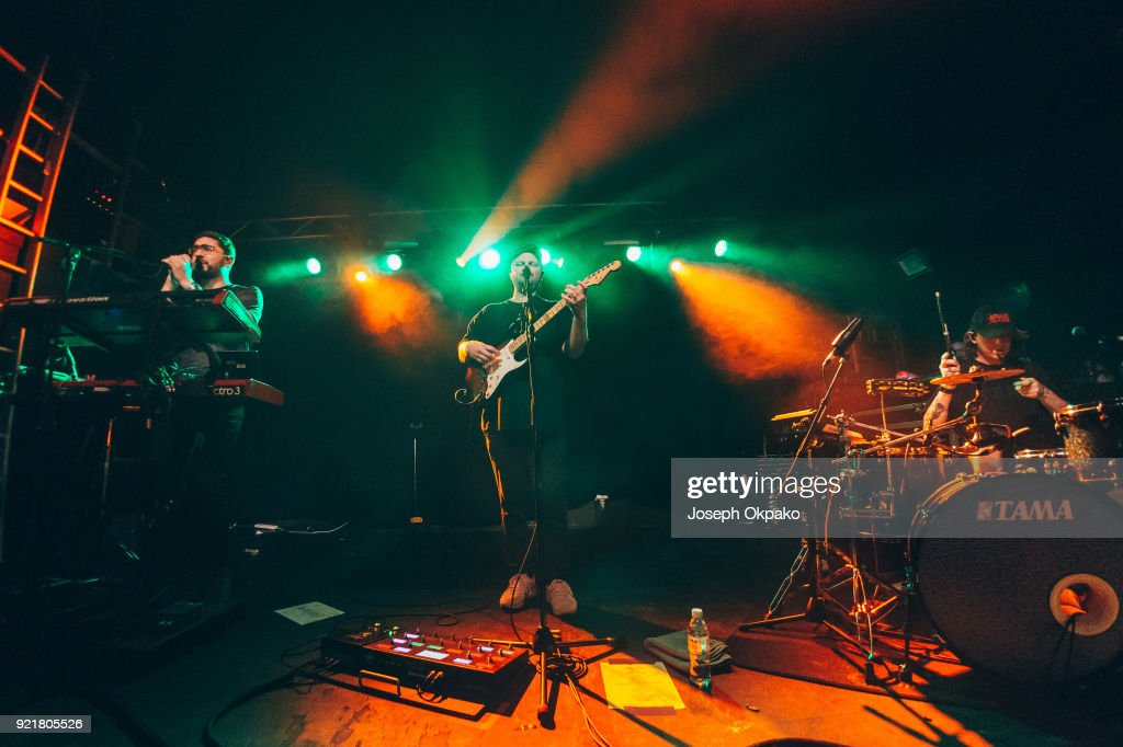 Gus Unger-Hamilton, Joe Newman and Thom Green of alt-J perform at The Garage on February 20, 2018 in London, England.